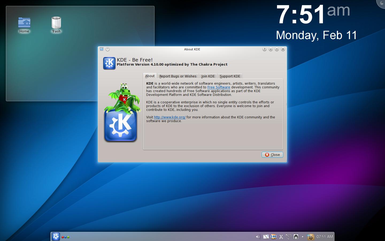 Woohooo…! Chakra Linux ane sudah pakai KDE 4.10 🤘🏼
